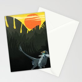 Microraptor Morning Meal Stationery Cards