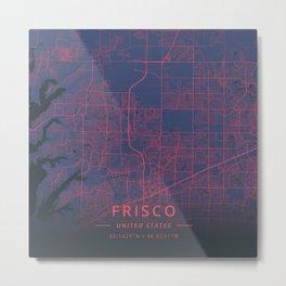 Frisco, United States - Neon Metal Print