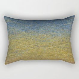 Wheatfield with Lines Rectangular Pillow