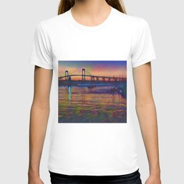 Newport Bridge - Newport, Rhode Island Summer Sunset T-shirt