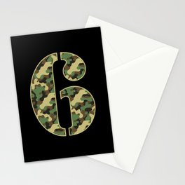 6th Birthday Gift Soldier 6 Year Old Military Themed Camo Stationery Cards
