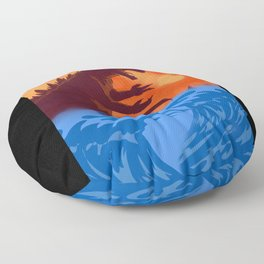 kajiu gojira king of the monsters japan Floor Pillow