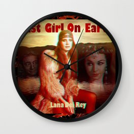 Last Girl On Earth Wall Clock