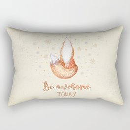 Be awesome today  - Watercolor animal illustration and Typography Rectangular Pillow