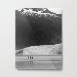 Mendenhall Glacier B&W Metal Print