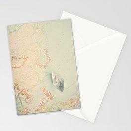 World Map IV Stationery Cards