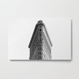 Flatiron Black and White NYC Metal Print