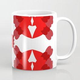 abstract red pattern Coffee Mug