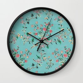 Length of painted silk mid-18th century Chinese Wall Clock