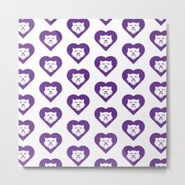 Wildcat Mascot Cares Purple Metal Print