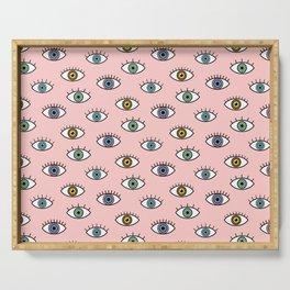 Eyes Pattern Serving Tray