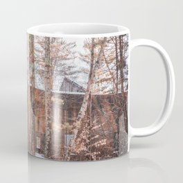 Abandonded Building In a Snowy Forest-Minnesota Coffee Mug