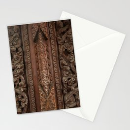 Ancient wooden carving Stationery Cards
