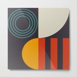 mid century bauhaus geometry square 2 Metal Print