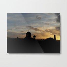 Sunset over Necropolis Metal Print