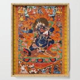 Buddhist Diety Mahakala 2 Serving Tray