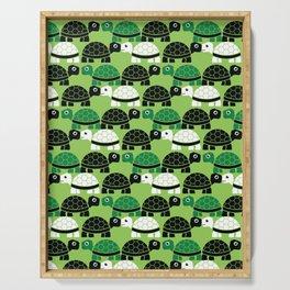 Turtle Pattern (Green/Black) Serving Tray