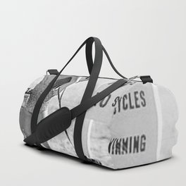 Girl ... It's Just Going to be One of Those Days black and white beach photograph Duffle Bag