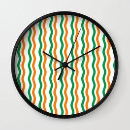 Irish Rick Rack Wall Clock