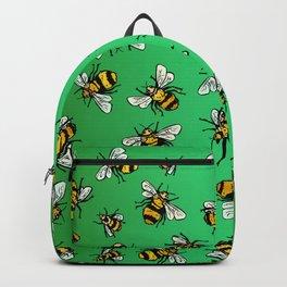 ALL DA BEES (mini) - Green Backpack