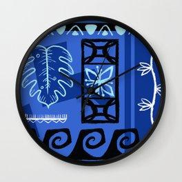 Hawaiian Pattern #1 - blue! Wall Clock