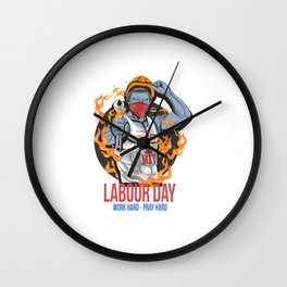 Labour Day 1 May Day New Vector Wall Clock