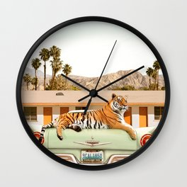 Tiger Motel Wall Clock