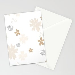 Minimalistic flower pattern Stationery Cards