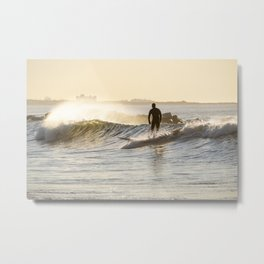 Golden Hour Surf Metal Print