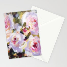White Rose Garden Stationery Cards