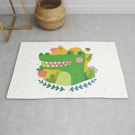 A Cute Crocodile Rug
