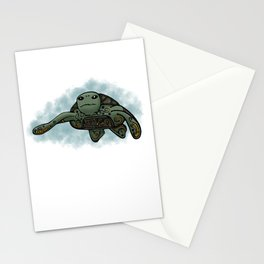 Sea Turtle Loggerhead (Green) Stationery Cards