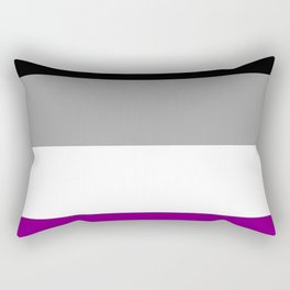 Flag of asexuality Rectangular Pillow