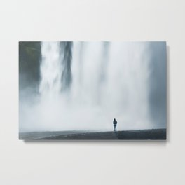 Nature vs. human | Natura vs Uomo Metal Print
