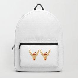 Bra Humbug Reindeer Santa Hat Scrooge Grouch Funny Cool Humor Pun Gift Design Backpack