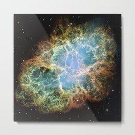 Crab Nebula Space Decor Metal Print