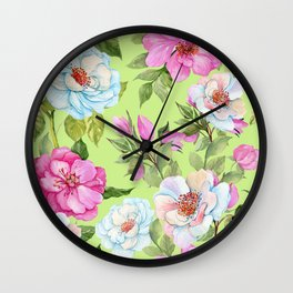 Vintage Floral Pattern No. 2 Wall Clock
