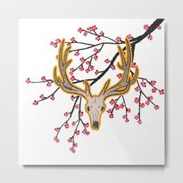 Elk & Bloom Metal Print