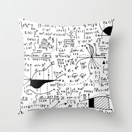 Hand Written Math Equation Throw Pillow