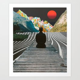 Waiting for Ice Cream Mountains Art Print