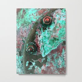 Rusted Nuts and Bolts: Mintchip Metal Print