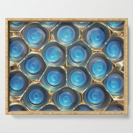 Blue in Gold Serving Tray