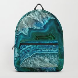 Blue Agate Slice Backpack