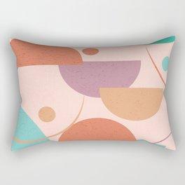 Fall Geometric Mid Century Vibes Rectangular Pillow