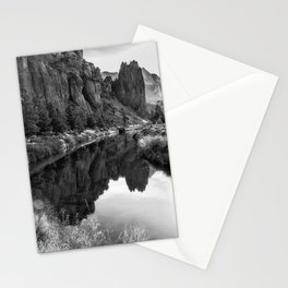 Smith Rock Morning Glow bw Stationery Cards