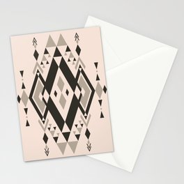 Neutral Geometric Pattern Stationery Cards