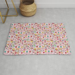 Proud To Be A Nurse pattern in pink Rug