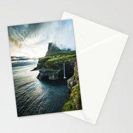 waterfall at faroe Stationery Cards