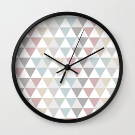 Geometric Pattern Wanderlust Pastel Wall Clock