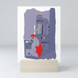 Diving in Madrid / Buceando en Madrid Mini Art Print
